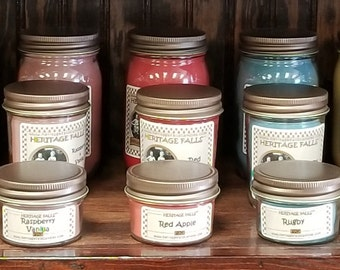 100% Natural SOY Candles Half Pint Jar  Hand Poured Lead Free Wick