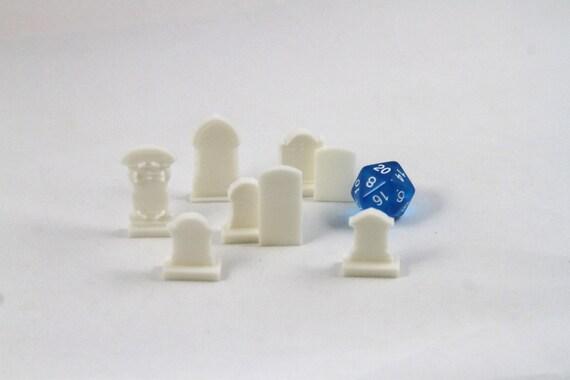 Ensemble de pierres tombales de 8 kit de jeux de table 3D