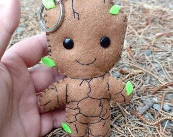 Baby Groot cute felt keychain