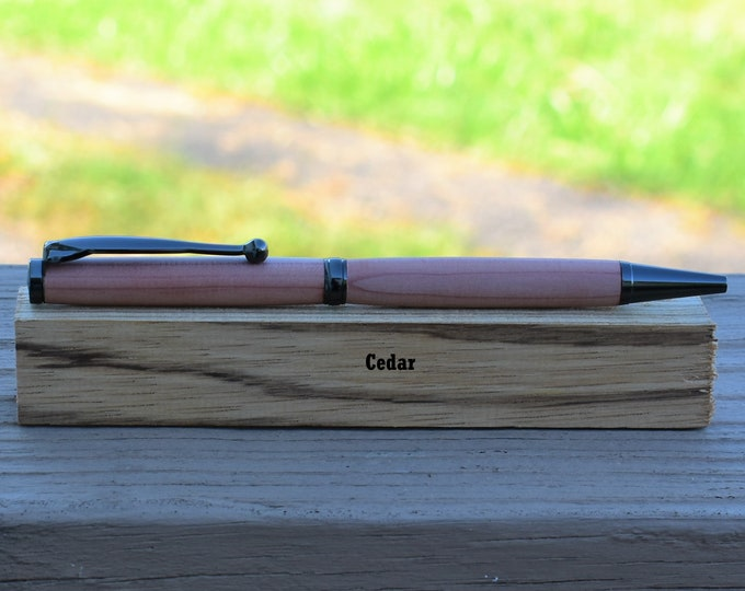 Slim Hand-turned Hardwood Pen - Updated