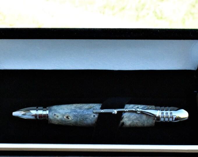 Hand-turned Civil War Pen - Buckeye Burl - Walnut