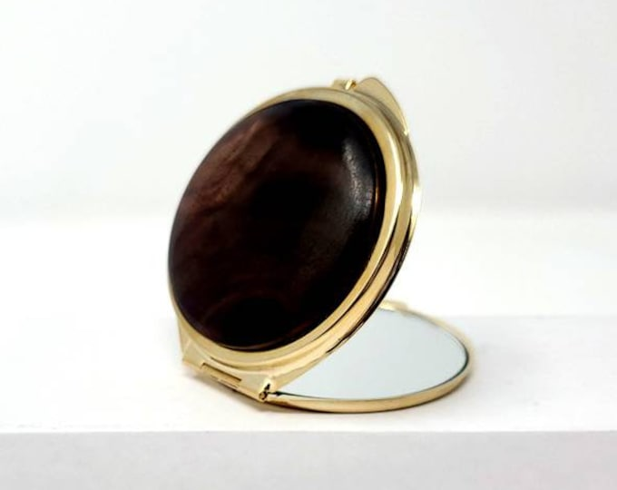 Compact mirror - Hand-Turned Hardwood