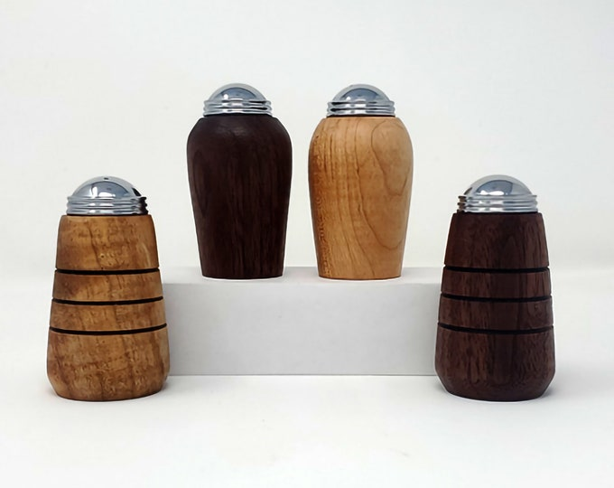 Salt and Pepper Shakers - Black Walnut & Ash