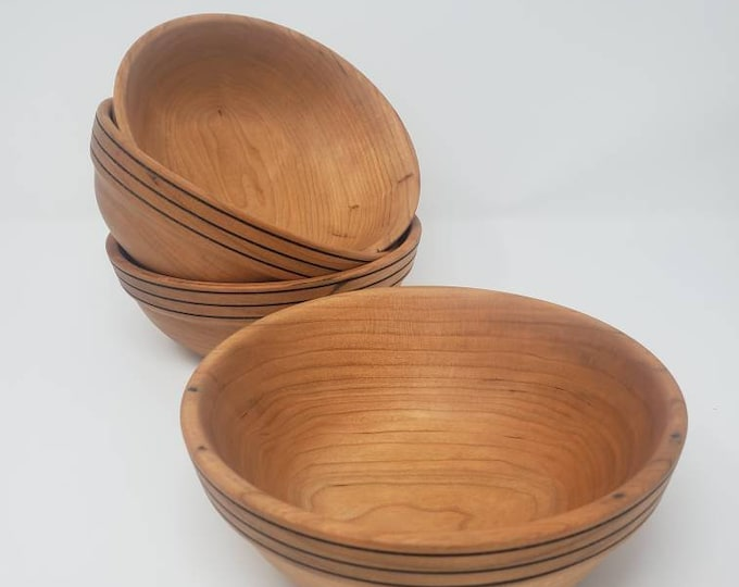 Cherry stackable salad bowl set.