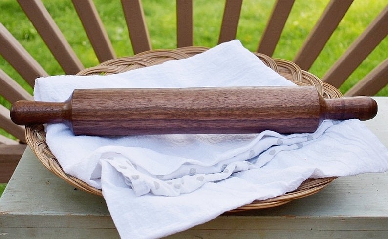 Made in Virginia Favorite Rolling Pin Black Walnut Hand-turned