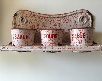 French enamelware/graniteware Laundry Set