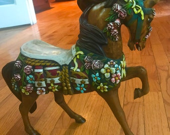 Hand-Carved Wood Horse by Artisan Miguel Ruelas