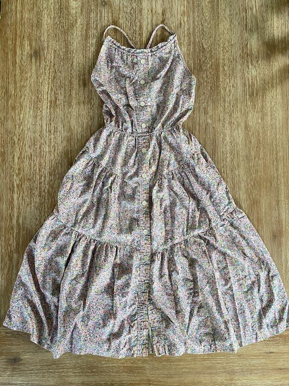 Lanz Originals Vintage 1970s Floral Cotton Sundres