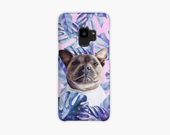 Personalized tropical dog phonecase!