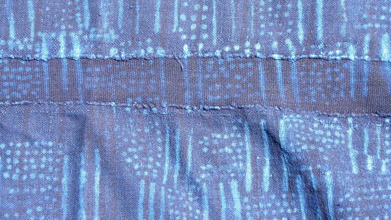 African Indigo mudcloth fabric  textile