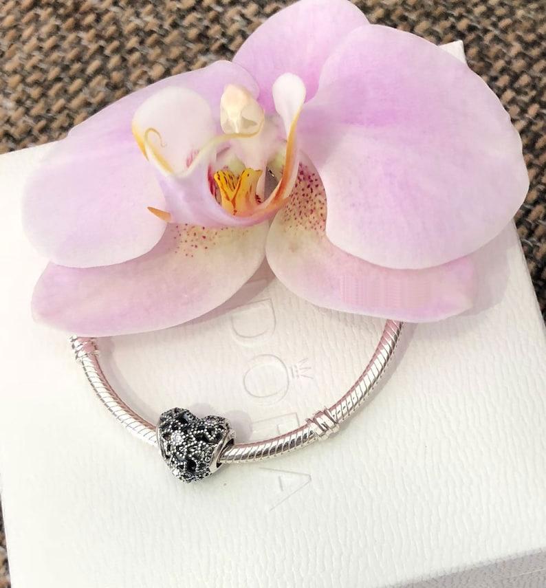 f6a79d80 Pandora kwitnący Heart Charm, bransoletka koralik, srebro, cyrkonia