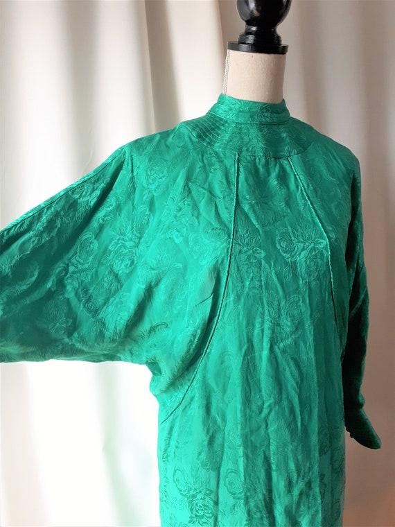 Vintage 1980s High Neck Dolman Sleeve Dress Size … - image 5