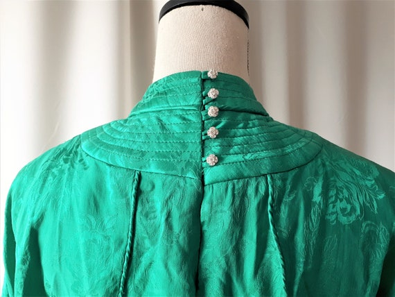 Vintage 1980s High Neck Dolman Sleeve Dress Size … - image 9