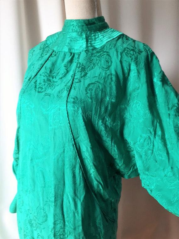 Vintage 1980s High Neck Dolman Sleeve Dress Size … - image 8
