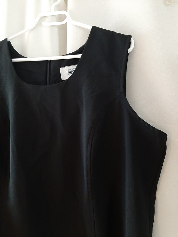 Vintage 1980s Plus Size 24 Black Dress