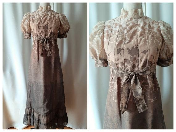 Vintage 1960s Boho Maxi Dress Size XS To Small