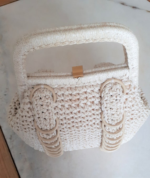 Vintage 1960s Crochet Bag Made in Italy