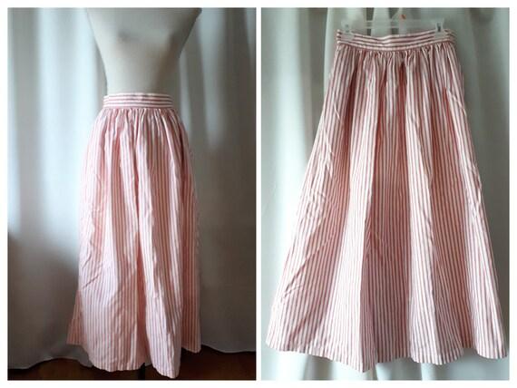 Vintage 1980s Calvin Klein Sport Cotton Maxi Skirt