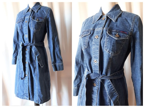 Vintage 1990s  Tribal Denim Dress Size 8