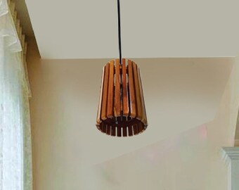 Wood ceiling lighting Contemporary Wood Pendant Light Modern Chandelier Lighting Hanging Dining Lamp Ceiling Light Fixture Geometric Lamp Minimal Contemporary Etsy Wood Pendant Light Etsy