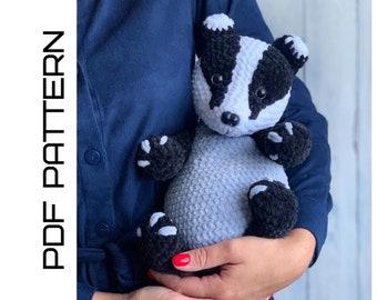 Crochet Baby Badger toy Pattern