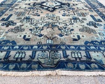 6'6''x3'5'' Vintage Rug, Handmade Rug, Over Dyed Turkish Rug, Antique Rug, Boho Vintage Rug, Wool Area Rug No809