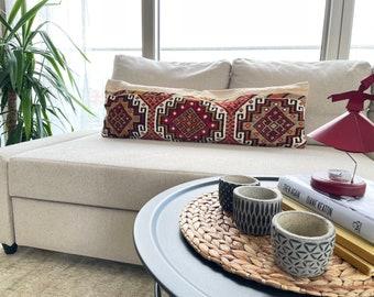38'' x 13'' Handmade Turkish Pillow Cover, Turkish Pillow Case, Vintage Lumbar Pillow, Pillow Case, Home Decor Boho, No Mix625