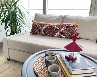 37'' x 13'' Handmade Turkish Pillow Cover, Turkish Pillow Case, Vintage Lumbar Pillow, Pillow Case, Home Decor Boho, No Mix624