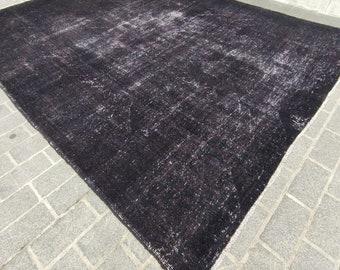 11'6''x 9' Vintage Rug, Handmade Rug, Overdyed Turkish Rug, Antique Rug, Boho Vintage Rug, Wool Area Rug No819