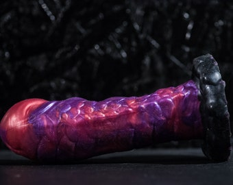 Custom Dildo Silicone Aquarius 19 cm Length 6 cm with suction cup