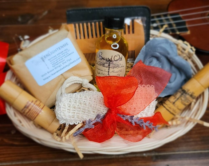 Men's skin care, A Gift for him- Skin Care Basket he'll Love