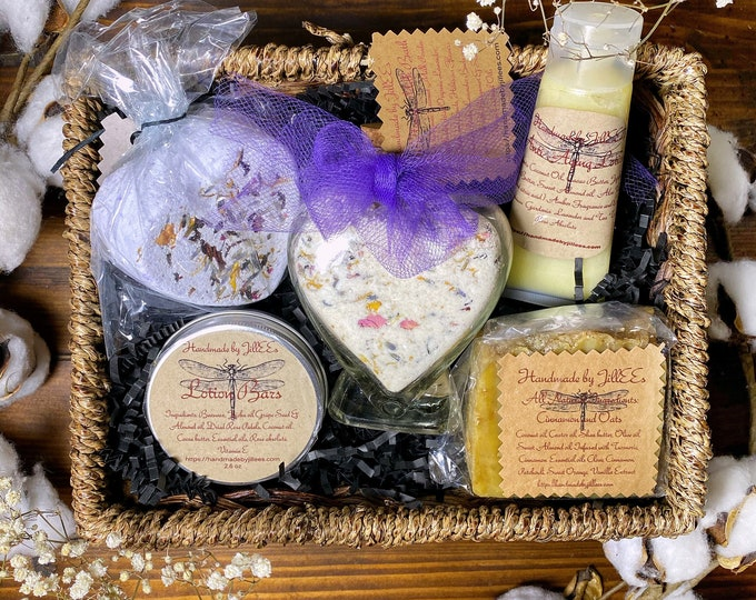 Natural Skin Care Gift Baskets Beautifully  Wrapped and Handmade all  Natural Skin Care Products under 50