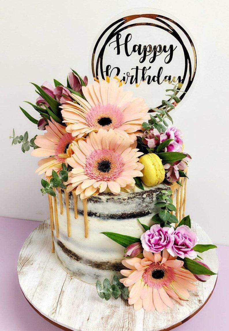 Custome Name Birthday Cake Topper Vinyl Cake Topper Cake Topper Personalised Cake Topper Acrylic Cake Topper Foil Cake Topper