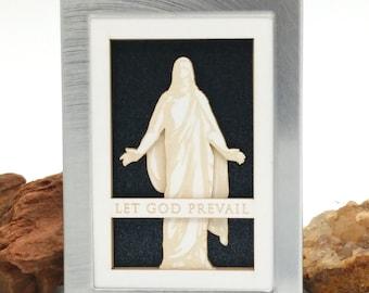 Tiny Christus - English 2x3 laser cut desktop art - LDS christmas gift - LDS wedding - lds missionary - lds baptism