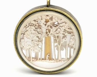 First Vision LDS Temple Ornament - Glass and Lasercut paper - LDS Christmas ornament - LDS wedding - lds missionary - lds baptism