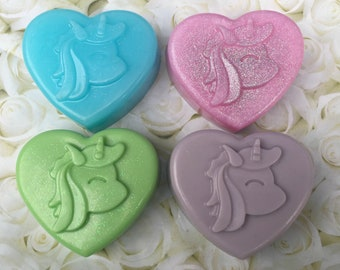Homemade Luxury Goat's Milk & vegetable Glycerin Soap 100g Unicorn bar