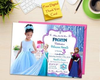 Frozen invitation etsy frozen frozen birthday invitation frozen birthday invitation printable frozen birthday invitation photo frozen invitation with photo filmwisefo