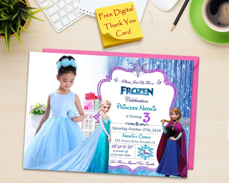 Frozen Birthday Invitation Printable Photo With