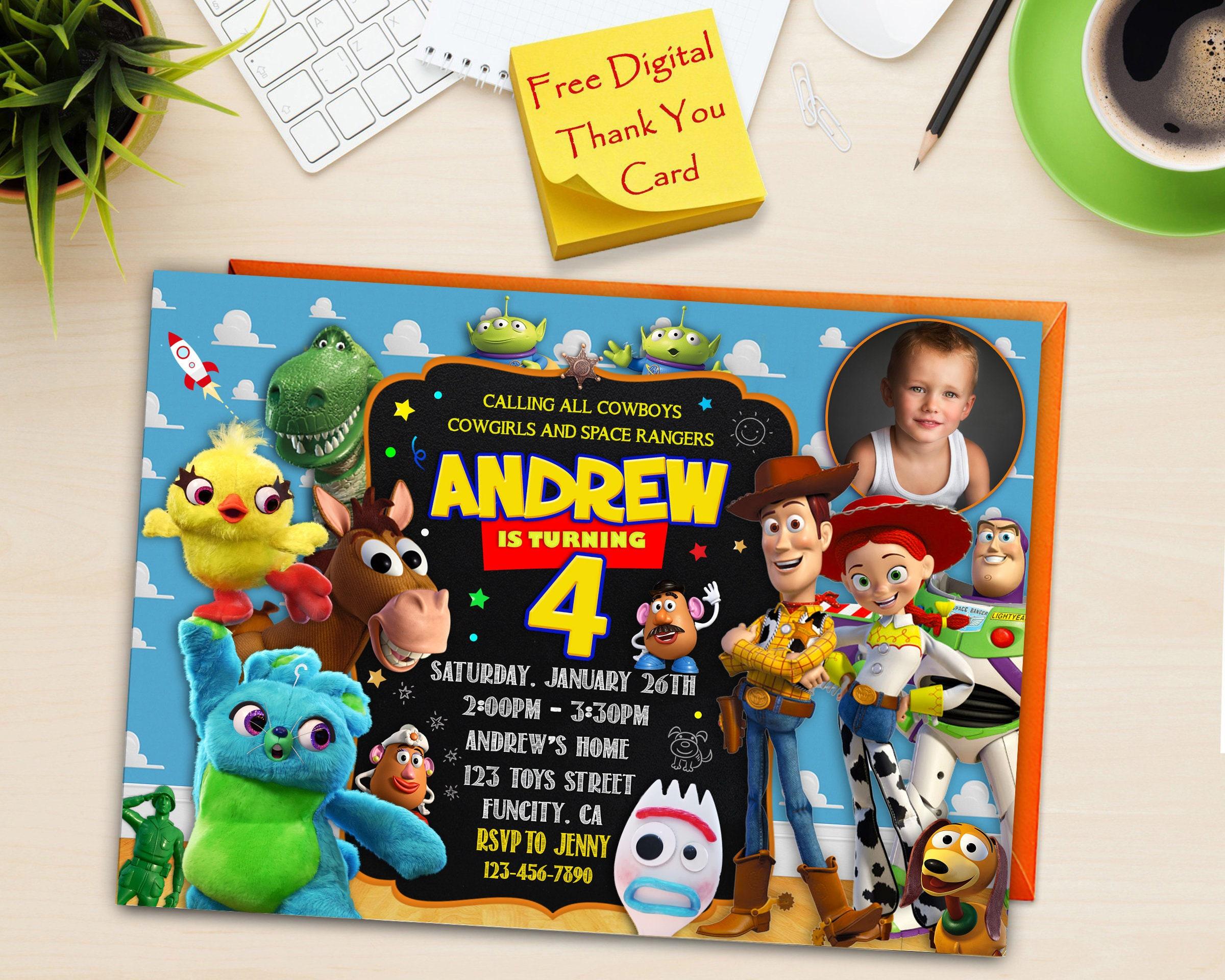 Toy Story 3 Inviteinstant Downloadprintable Disney Toy Etsy