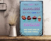Freshly baked cupcakes home and kitchen vintage style metal advertising wall plaque Cupcake Bakery Sign Cupcake sign Bakery signs Baked Good