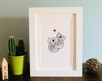 Koala Cuddles Print (Unframed)