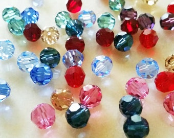 144  Faceted Glass crystal round//rivoli gold//silver claw Setting Sew On 4//5//6//8m
