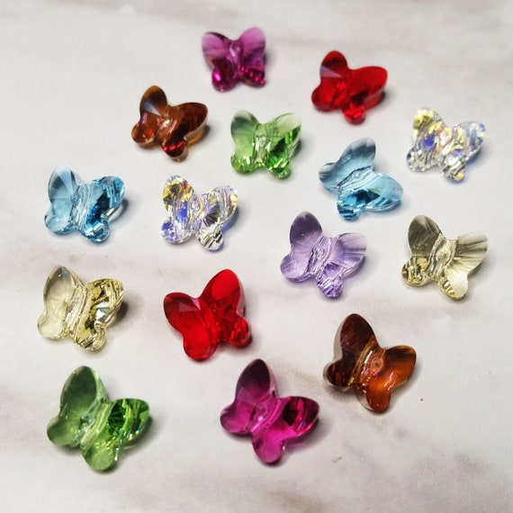 6 pieces Swarovski Element 5754 10mm Butterfly Shaped Crystal Beads COPPER