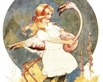 Original Vintage Print  \u2013 illustrated by AH Watson 2 1944 \u201cAlice\u2019s Adventures in Wonderland and Through the Looking-Glass\u201d Unique Gift