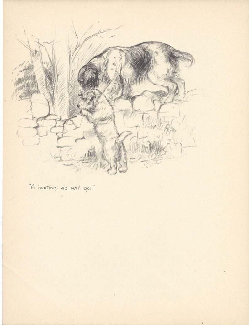 1935 KF Barker Original 2-sided Vintage Dog Print 25 Unique Gift for Dog Lovers