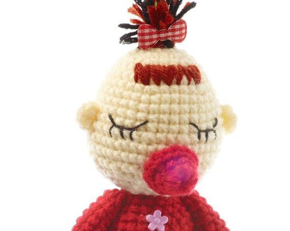 Crochet baby with pacifier keychain pocket pendant hanger beautiful handmade