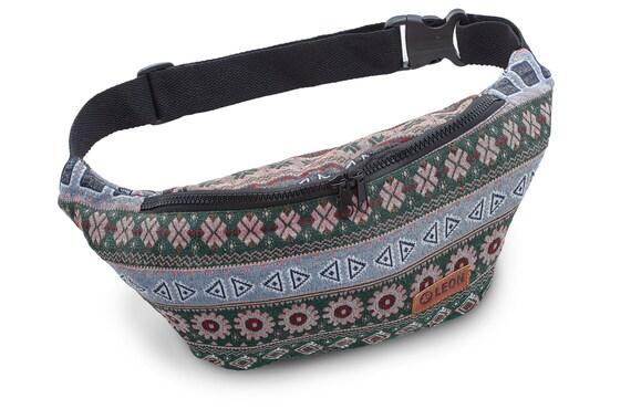 Leon Belt Bag Belly Bag Hip Bag 100% Cotton Fanny pack Hip Bag Shoulder Bag Bumbag GruenHellblauRosa Design
