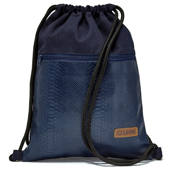 LEON by Bers bag women's gym bag backpack sports bag made of cotton gym bag width approx.34 cm height approx.45 cm