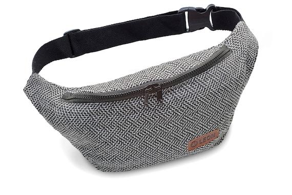 Leon Belt Bag Belly Bag Waist Bag 100% Cotton Fanny pack Hip Bag Shoulder Bag Bumbag Labyrinth Design