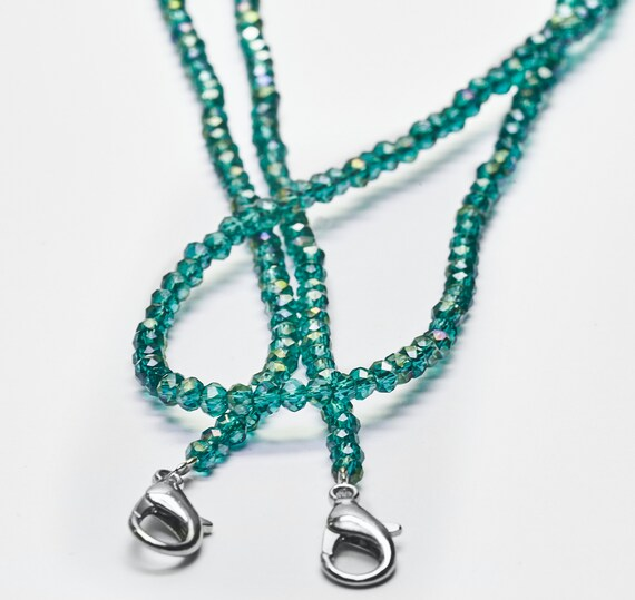 Mask necklace turquoise masks necklace for makeshift mask chain wiobs eyeglass chain ankle bracelet necklace
